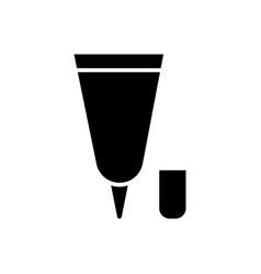cream tube small icon black vector image