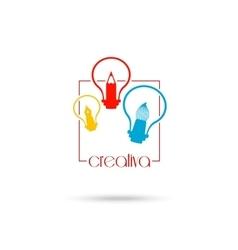 Creative light bulb Idea concept symbol design for vector image