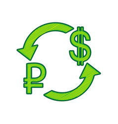 currency exchange sign ruble and us dollar vector image