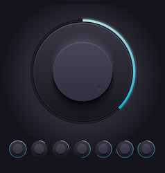 Dark Knobs Set for Web and Mobile vector