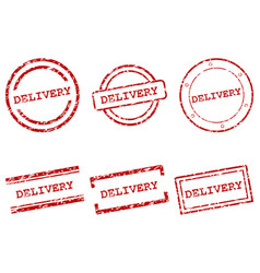 delivery stamps vector image