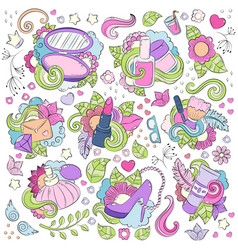 Doodle hand drawn abstract background vector