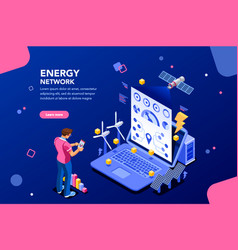 energy network design vector image