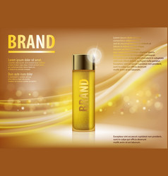 Essence contained ads gold translucent glass vector