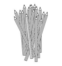 Figure pencils color icon vector