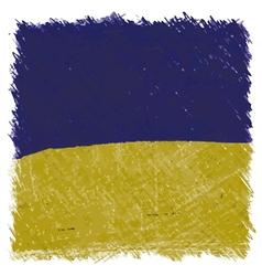 Flag of Ukraine handmade square shape vector