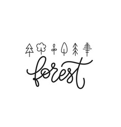 forest global warming shirt print quote lettering vector image