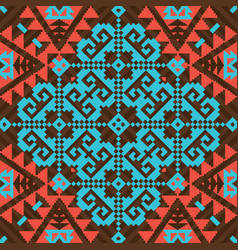 geometric ornamental pattern vector image