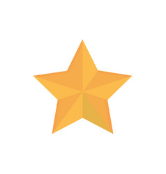gold star decoration happy christmas icon vector image
