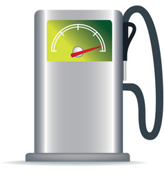 green petrol pump vector image