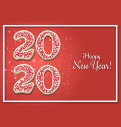 happy new year 2020 greeting card template vector image