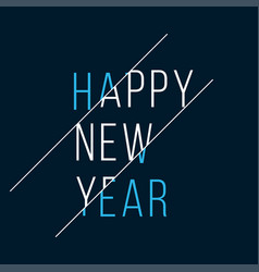 happy new year 2021 background cover card vector image