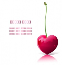 heart shaped cherry vector image vector image