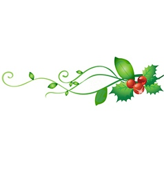 Holly design elements vector image