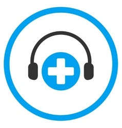 Hospital Call Service Rounded Icon vector