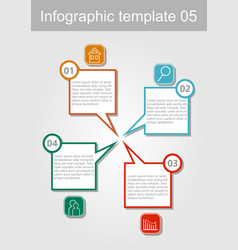 infographic visualization template abstract vector image