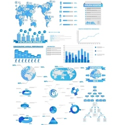 Infographic web collection vector