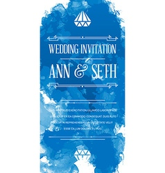 Invitation to Wedding Card in Watercolor Art Style vector image