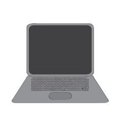 isolated laptop device vector image