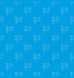 jolly roger pattern seamless blue vector image
