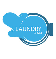 laundry service isolated icon water splash or vector image