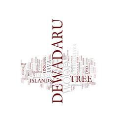 Legend dewadaru tree text background vector