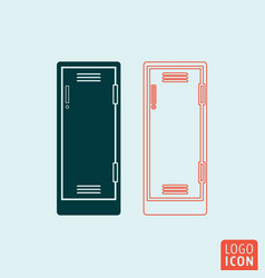 Locker icon isolated vector