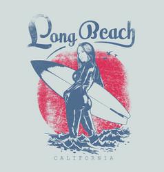 Long beach wear vector