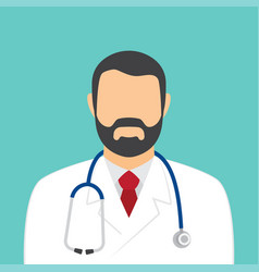 male doctor with stethoscope avatar vector image