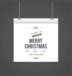 merry christmas card with typographic and light vector image