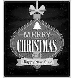 Merry Christmas typographic design vector image