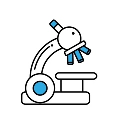 Microscope device isolated icon vector