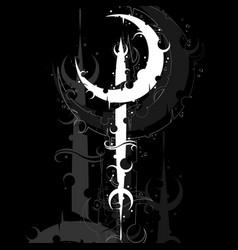 moon black symbol background vector image