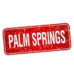 Palm springs red stamp isolated on white vector