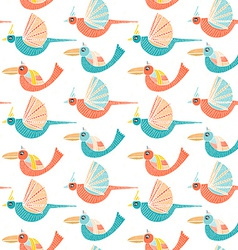 Pattern with birds vector image
