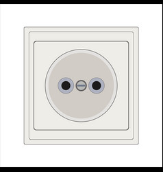 Power electrical outlet vector