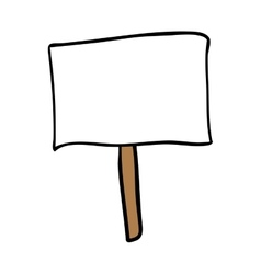 protest sign cartoon icon image vector image
