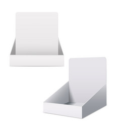 Realistic detailed 3d white blank display holder vector