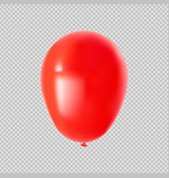 red helium party balloon on isolated background vector image