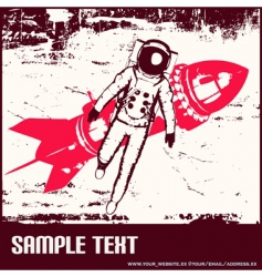 retro space travel vector image vector image