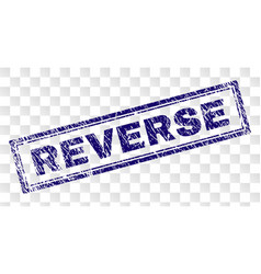 Scratched reverse rectangle stamp vector