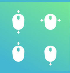 scroll with mouse icons vector image