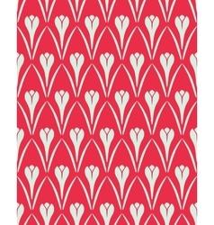 Seamless floral pattern Flower Crocus vintage vector