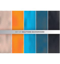 set dots pattern design on orange blue black vector image