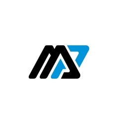 Sign letter m and p vector