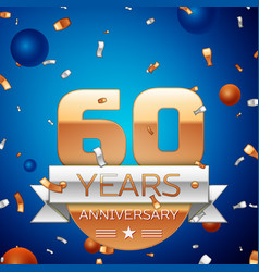 Sixty years anniversary celebration design vector