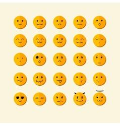 smile icon set Flat Design vector image