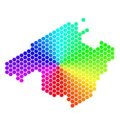 Spectrum hexagon spain mallorca island map vector