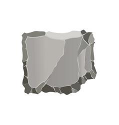 stone game element cartoon rock ui element vector image