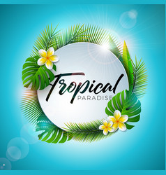 summer tropical paradise with vector image